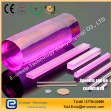 D8*185mm D7*165mm threaded Nd:Yag anti-reflection coating laser crystal rod can be customized