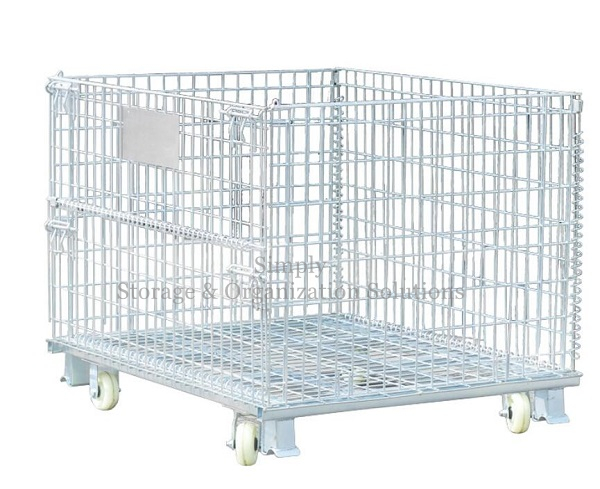 Collapsible 4000lbs Welded Wire Mesh Containers 32″D x 40″L x 34″H