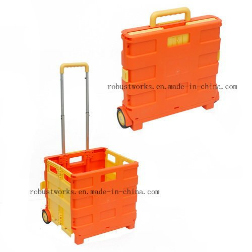 Plastic Folding Shopping Cart (FC401C)