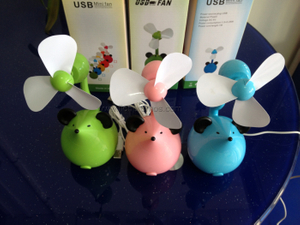 Summer Promotional Gift Cartoon Shape USB Cartoon Fan