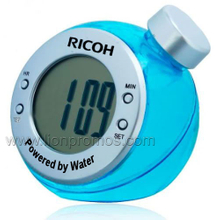 Novelty Gift Carbon Zero Eco Friendly Water Power Desk Clock