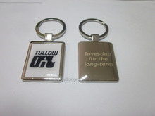 Custom Epoxy Logo Zinc Alloy Key Ring