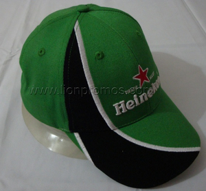 Heineken Beer Logo Embroidery Cotton Baseball Cap