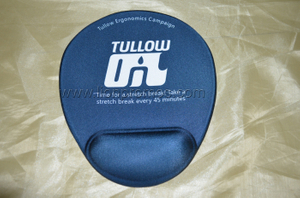 Tullow Oil Ergonomics Campaign Gift Silicone Gel Wrist Support Mouse Pad