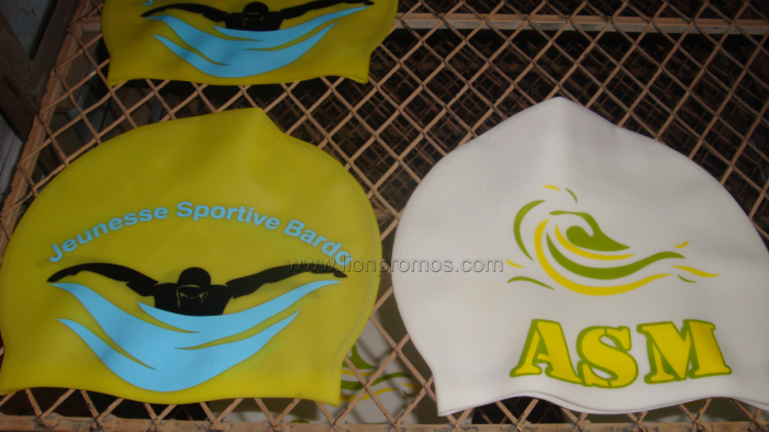 Logo Printed Silicon Material Swimming Cap