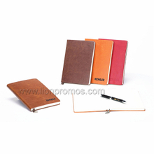New Year Business Gift Custom Logo PU Leather Notebook