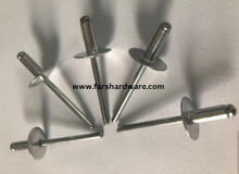 Aluminum steel open type large head blind rivet