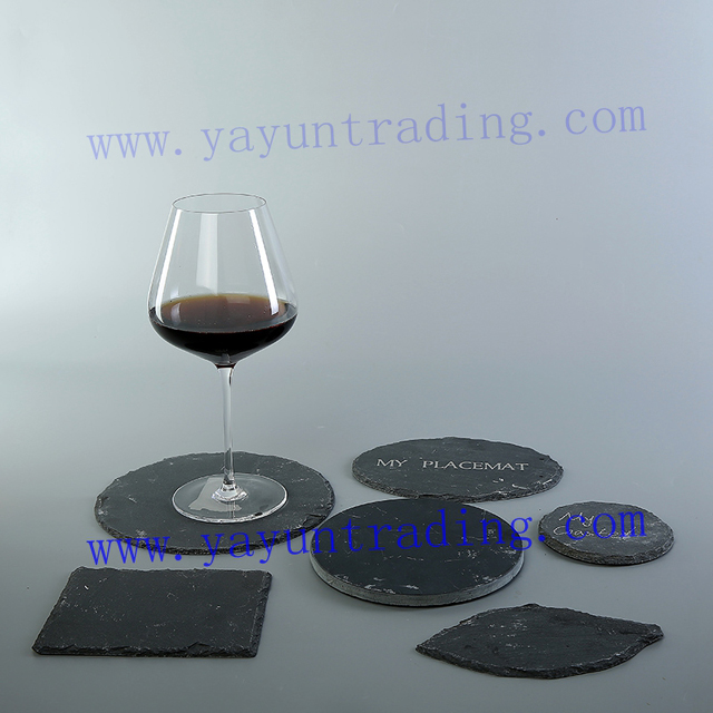slate coaster and placemat