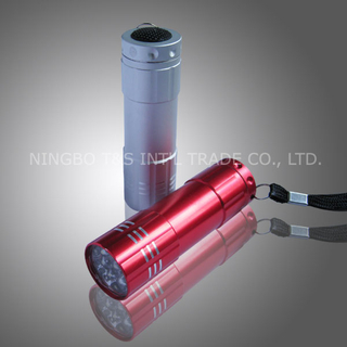 Aluminum Alloy 9 LED Flashlight