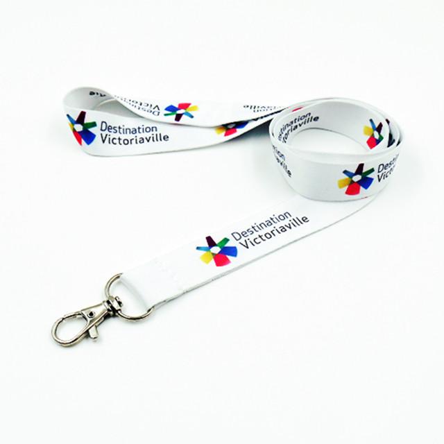 Customized name badge holder lanyards with dye sublimation