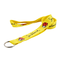 Custom badge holders lanyards with polyester material and print logo for promotional event