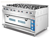 Commercial 8 Burner Gas Cooking Range with Gas Oven HGR-78G