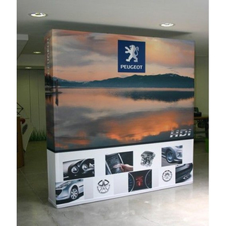Print 8ft Fabric Popup Banner Display Stand Straight Tension Display Banner Custom Printed Stretch Polyester Banner