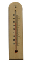 CF308-13 Wooden Thermometer