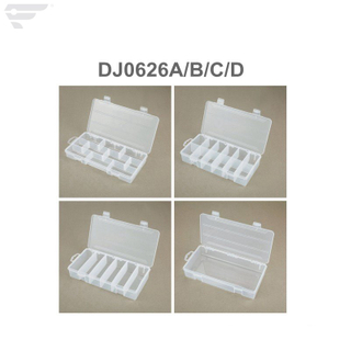 DJ0626A/B/C/D High Quality PP Material Transparent Compartment Box