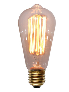 Incandescent Bulbs St64 Edison Bulb 40W 60W with E27 Amber Color Vintage Lamp