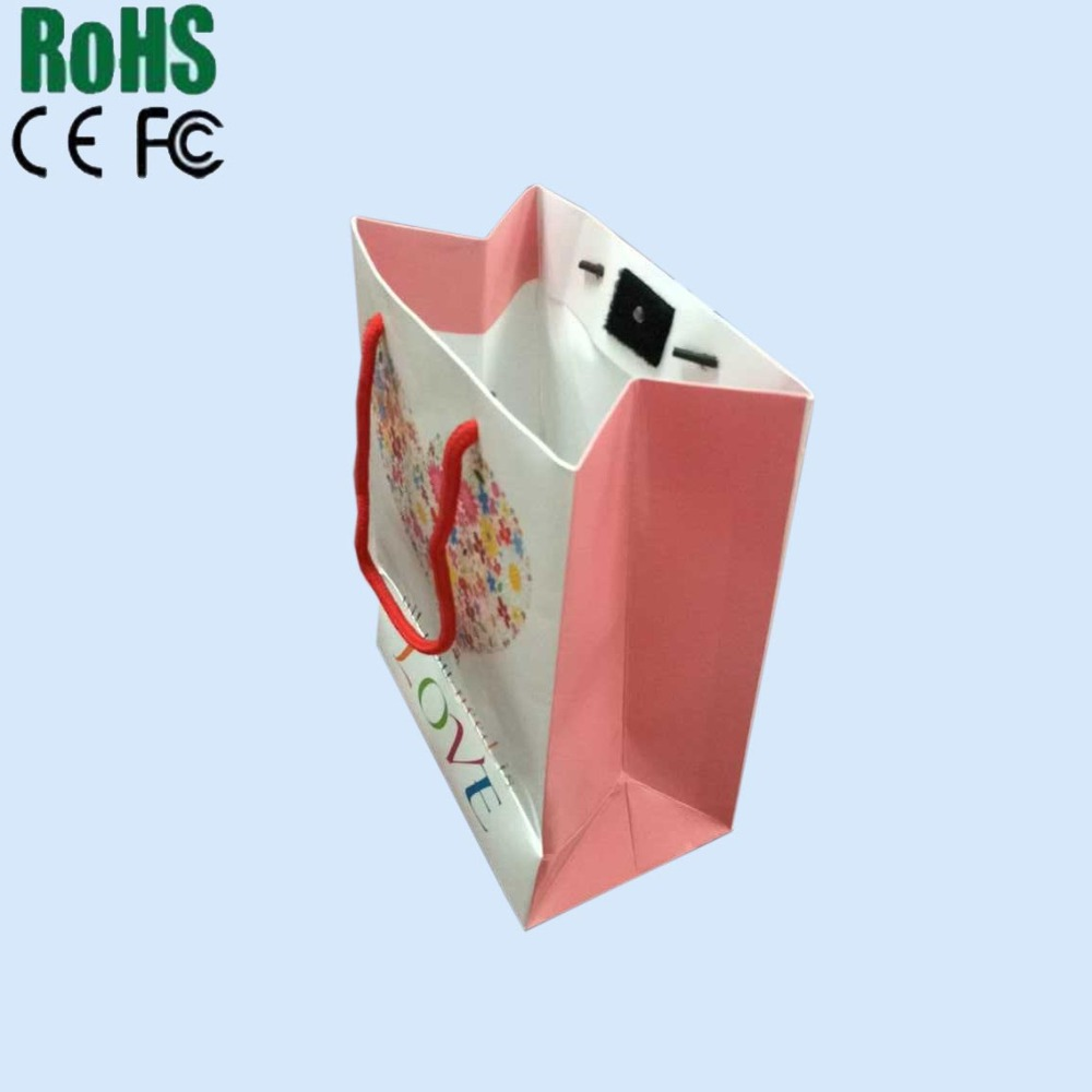 Christmas Custom Design Musical Recording Activated Sound Paper Bag