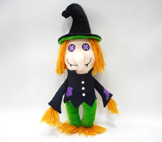 Halloween Holiday Festival Cute Soft Stuffed Doll Plush Toys with Orange Hair