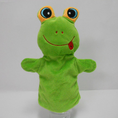 Cheap Wholesale OEM Big Eyes Frog Plush Hand Puppet