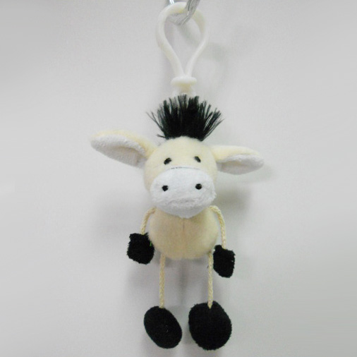 Custom Soft Plush Donkey Toy Keychain