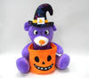 Promotional Easter Purple Bear Soft Plush Toys with Easter Basket