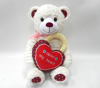 2018 Valentine Soft Girl Teddy Bear Plush Toy With Heart Lock