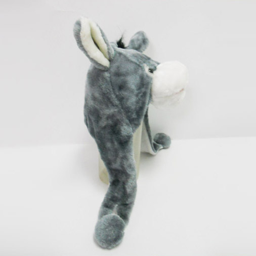 Soft Plush Toy Donkey Winter Hat for Kids
