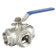 3Way Stainless Steel Ball Valve