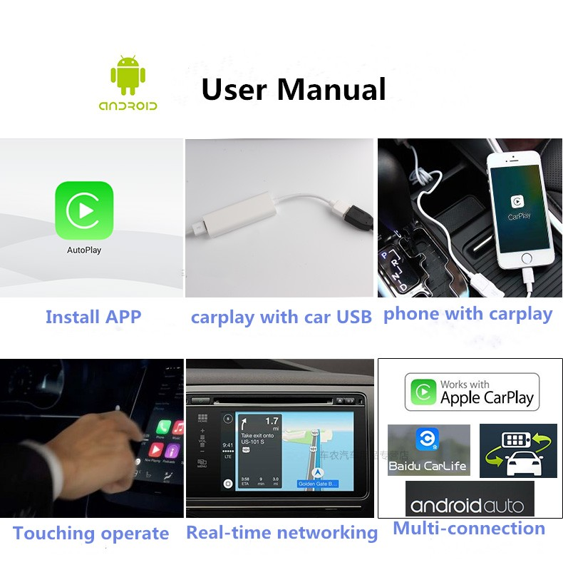 Carplay-USB Android Car Stereos Real-time Networking