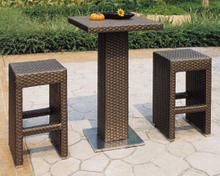 Outdoor Rattan Bar Furniture Stool Set