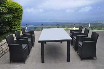 Outdoor Furniture Wicker Dinng Set Chairs and Table