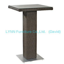 Outdoor Garden Furniture Wicker Bar Table