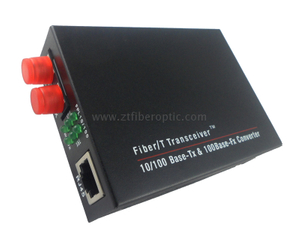 100Base Dual Fiber FC Interface Optic Media Converter external power supply