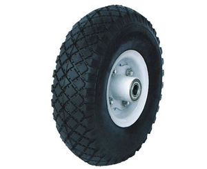 Wear-Resistant Rubber Wheel with Plastics/Steel Rim (10*300-4)