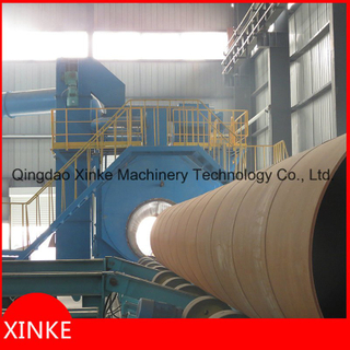 Big Steel Pipe Outwall Abrasive Blast Cleaning Machine