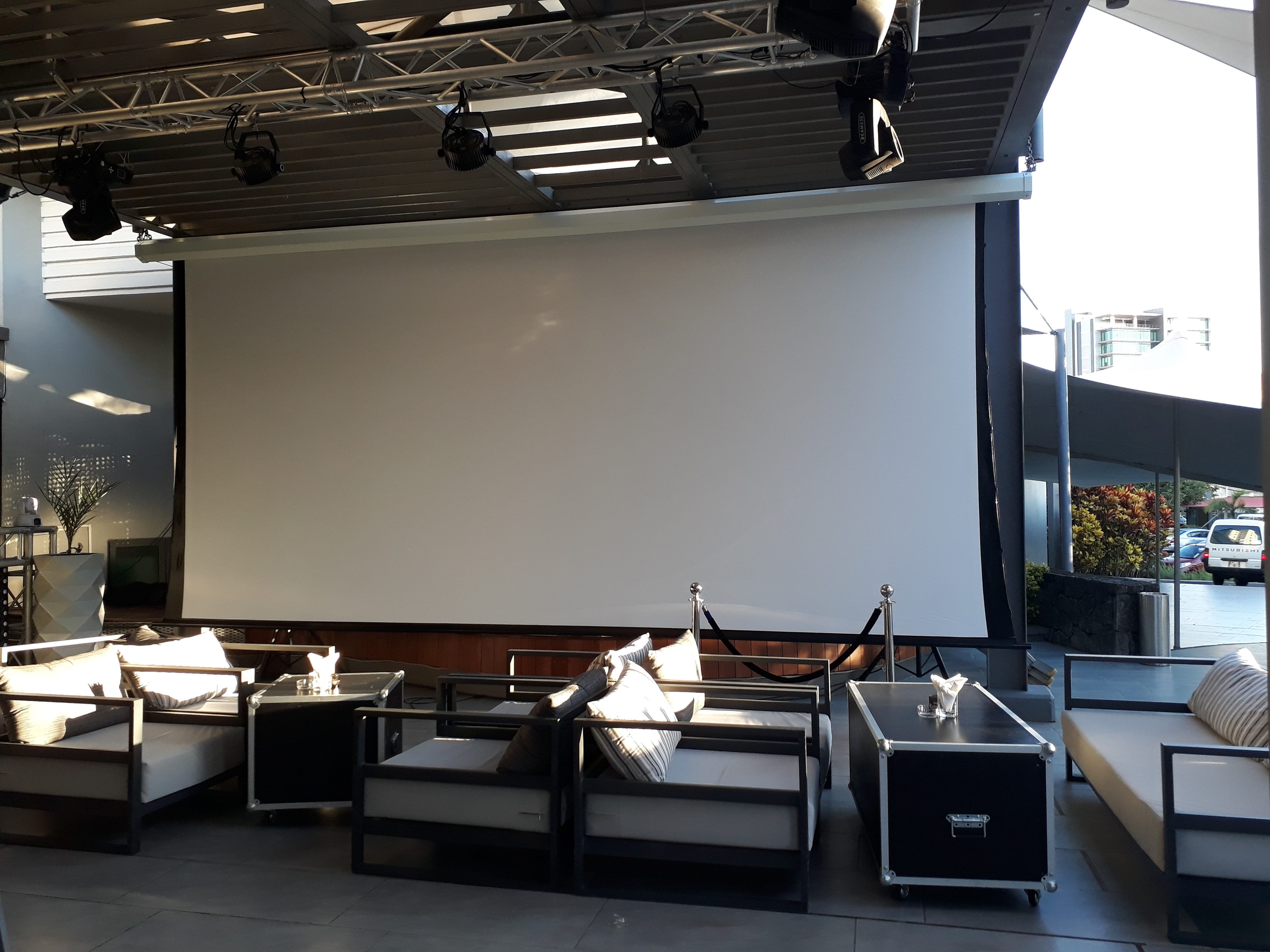 Tab Tension Motorized Projection Screen Electric Projector Screen
