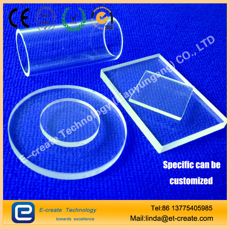 Customize Heat Resisting Clear Quartz Plate polished optical quartz plate
