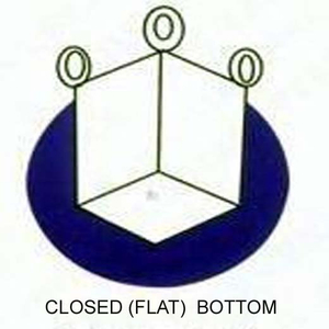 closed (flat) bottom