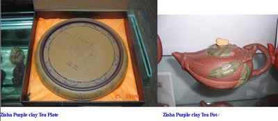Yixing Plate(Service Tray) and Teapot