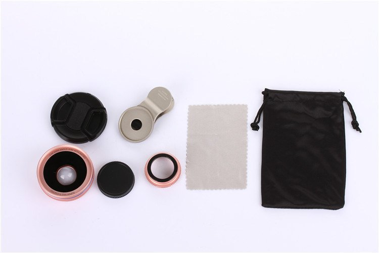 HD 4K Optical Glass 0.6X Wide Angle + 15 Macro Phone Lens Clip-on
