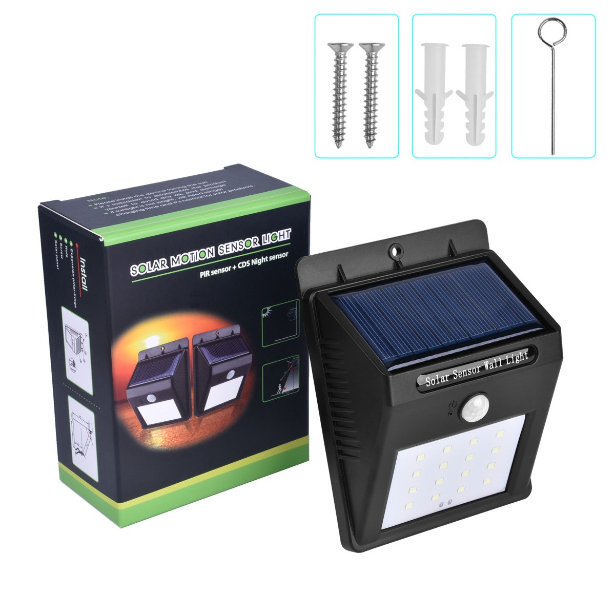 IP65 Waterproof 16 LED Solar Light Outdoor Lamp Garden Lighting