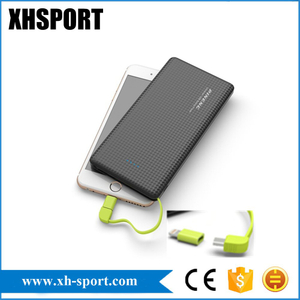 Pn-951 Power Bank with 2 in 1 Cable Polymer Battery 10000mAh for iPhone 8