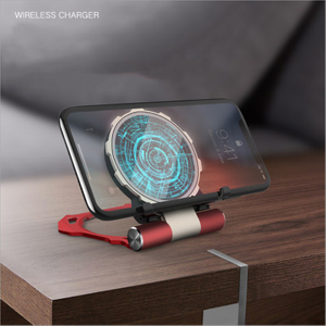 Hot Sell QI Wireless Charger for IPhone 10W QI Fast Wireless Charger for Samsung Mobile Phone Wireless Charger with Bracket Metal Tempered Glass