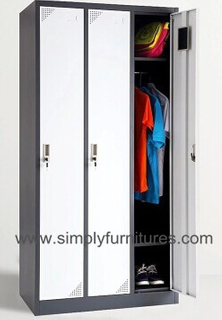 3 doors metal armoire