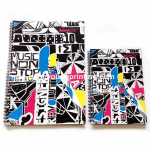 Card board cover spiral note book