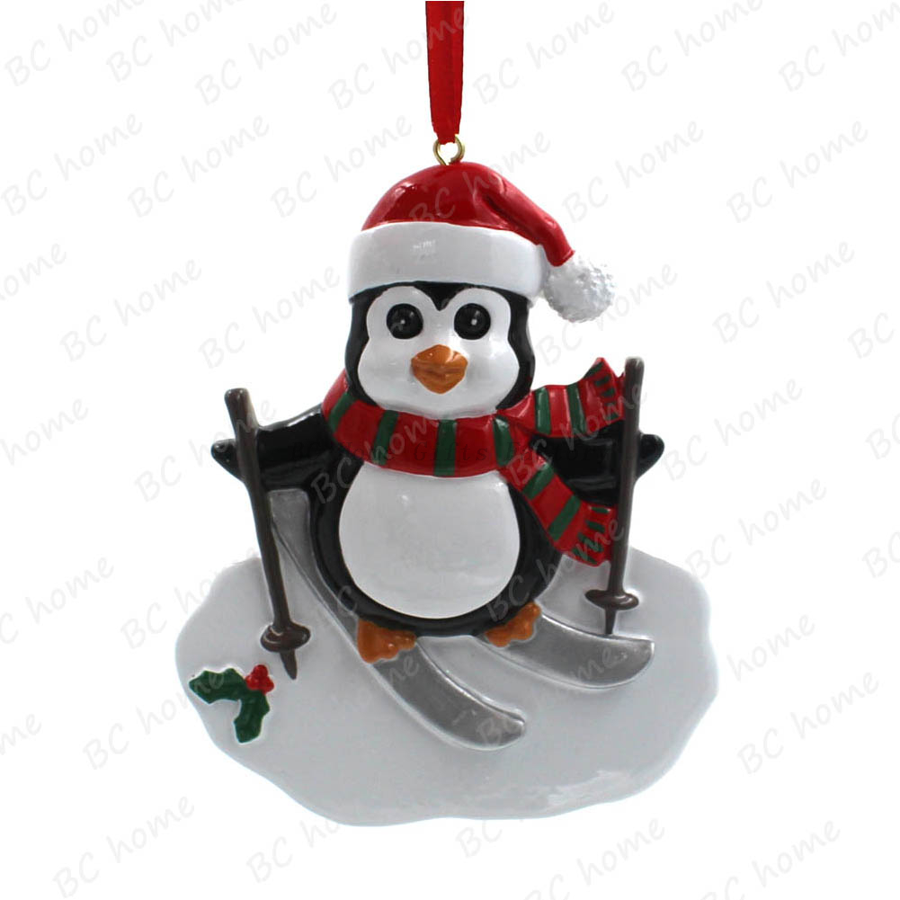 Skiing Penguin Ornament Personalized Christmas Tree Ornament - Buy ...