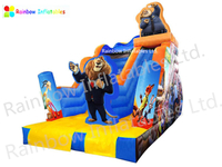 RB01015 ((6x3x2.5m)Inflatable Zootopia dry Slide