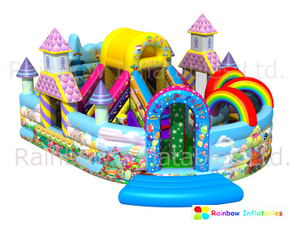 RB03011(8x6m)Inflatable Bouncy House Funcity with Bouncer and Slide New Design