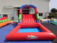 Outdoor Commercial Inflatable Water Slide with Pool for Kids