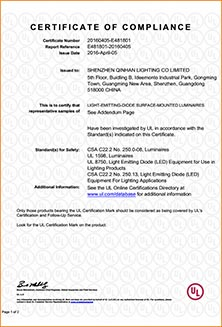 UL certificate for LED flood light floodlight